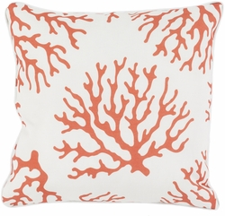Coral Outdoor Pillow in Burnt Orange