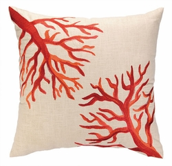 Coral Reef Embroidered Pillow