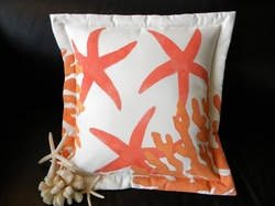 Coral Sea Stars and Coral Indoor/Outdoor Pillow