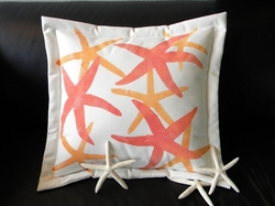 Coral Seastars Solo Indoor/Outdoor Pillow