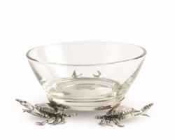 Crab Glass Dip Bowl - Two sizes