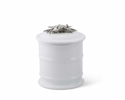 Crab Stoneware Canisters Short or Tall<font color=a8bb35> NEW</font>