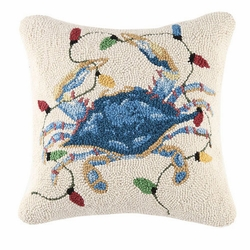 Crab With Lights Hooked Pillow<font color=cf2317> Sold Out</font>