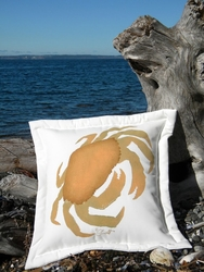 Crab With The Golden Claws Pillow