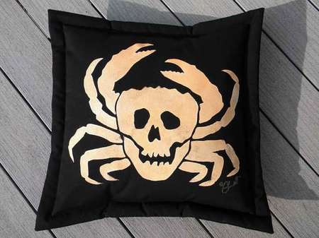 Crabbers of the Caribbean Pillow