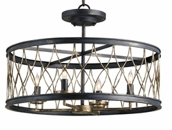 Crisscross 4-Light Ceiling Mount