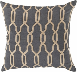 Crosshatch in Charcoal Pillow<font color=cf2317> 20% Off</font>