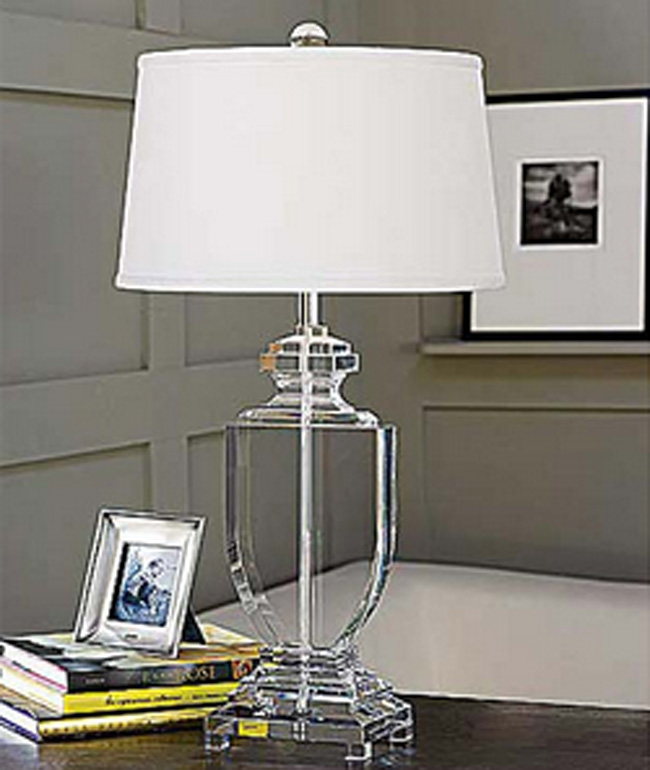 urn table lamp nickel crystal flat urn table lamp for sale cottage bungalow