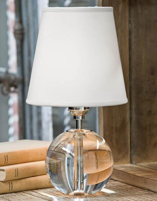 Crystal Orb Mini Sphere Table Lamp For Sale Cottage Bungalow