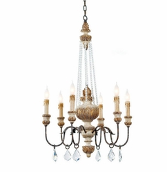 Crystal Parisian 6-Light Chandelier
