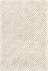 Cut Diamond Silver Tufted Rug