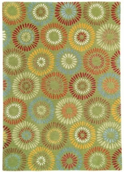 Dandelion Rug in Green