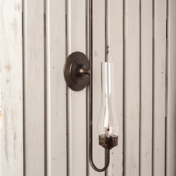 Steel Gas Replica Sconce with Matador Chimney