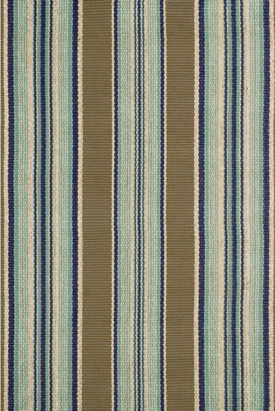 Blue Stripe Indoor Outdoor Rug Carpet Vidalondon