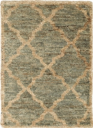 Casablanca Blue/Green Hand Knotted Jute Rug<font color=a8bb35> 20% OFF</font>
