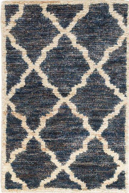 Dash And Albert Casablanca Indigo Hand Knotted Jute Rug