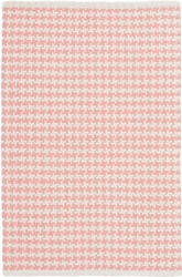 Checks Coral Cotton Rug