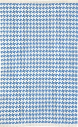 Checks French Blue Cotton Rug