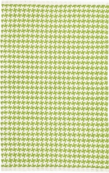 Checks Green Cotton Rug