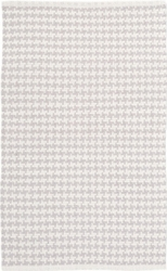 Checks Pearl Grey Cotton Rug