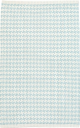 Checks Sky Blue Cotton Rug