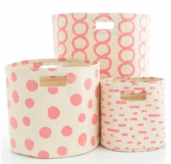 Coral Hamper/Bin in 3 Sizes