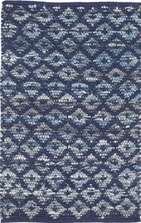 Denim Rag Diamond Indigo Cotton Rug