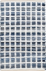 Denim Rag Squares Cotton Rug
