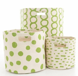 Green Hamper/Bin in 3 Sizes