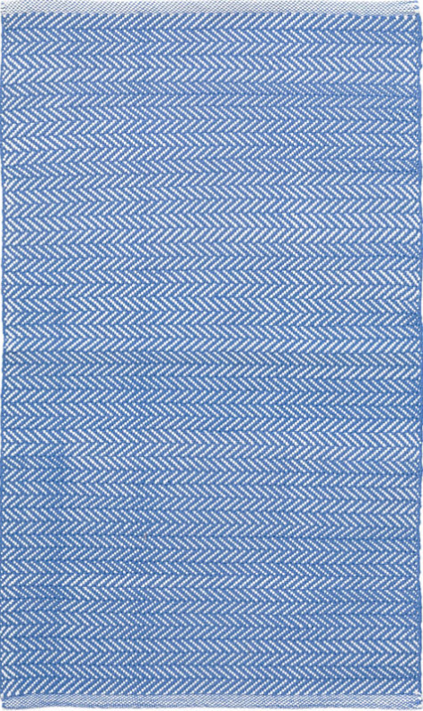 Herringbone French Blue Indoor/Outdoor Rug for sale - Cottage & Bungalow