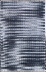 Herringbone Indigo Indoor/Outdoor Rug