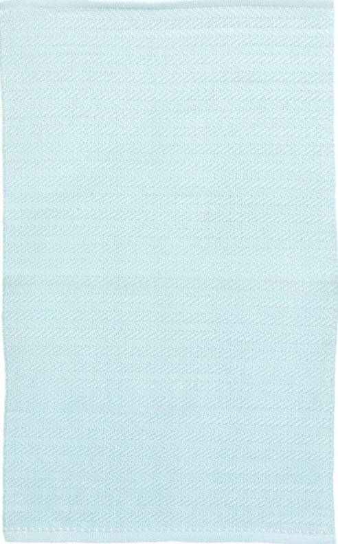 Herringbone Sky Blue Indoor/Outdoor Rug for sale - Cottage & Bungalow