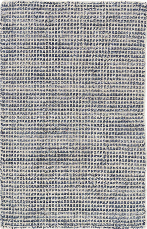 Dash And Albert Homer Blue Loom Knotted Wool Viscose Rug