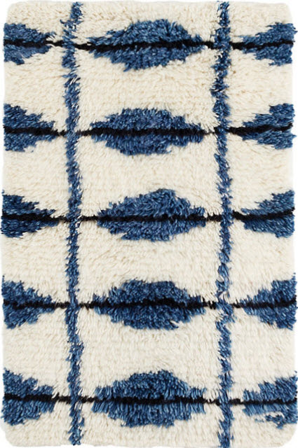 Dash And Albert Noma Indigo Woven Wool Rug For Sale