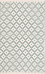 Samode Light Blue/Ivory Indoor/Outdoor Rug