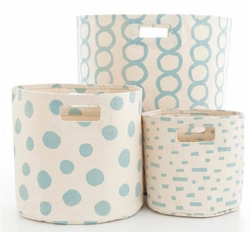 Sky Blue Hamper/Bin in 3 Sizes