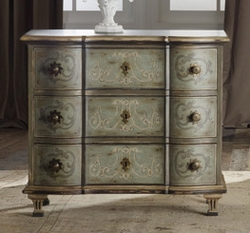 Small Decorated 3-Drawer Bedroom Chest