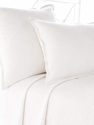Diamond Matelasse Coverlet in White