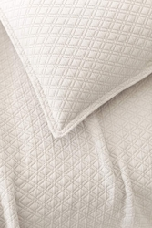 Diamond Matelasse Sham in Platinum