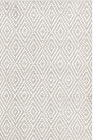 Dash and Albert Diamond Platinum and White Indoor/Outdoor Rug
