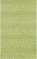 Dash and Albert Diamond Sprout/White Indoor/Outdoor Rug