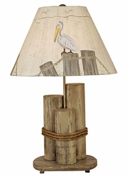 Dock Pilings Lamp in Distressed Grey