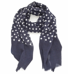 Navy Dots Beach Scarf<font color=a8bb35> 20% OFF</font>