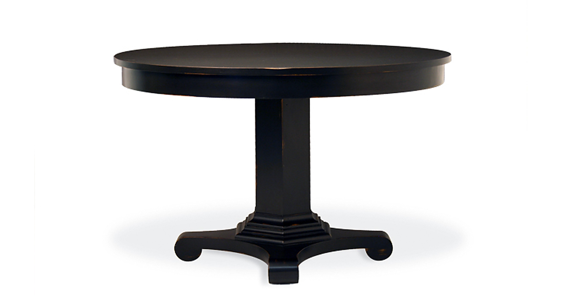 Modern round wood dining table - Drake Round Dining Table