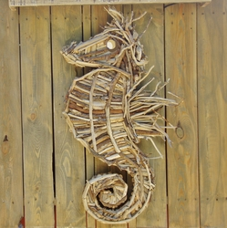 Handcrafted Driftwood Seahorse