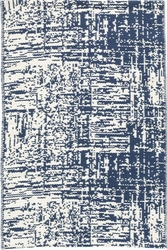 Drybrush Blue Woven Cotton Rug<font color=cf2317>20% OFF</font>