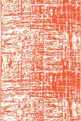 Drybrush Orange Woven Cotton Rug<font color=cf2317>20% OFF</font>