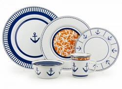 Eden Roc Enamel Dinner and Serving Sets <font color=a8bb35> Limited Stock</font>