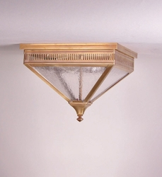 Elryan 2-Light Flush Mount Fixture with Seedy Marine Glass