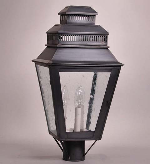 3 light lamp post pedestal elryan 3light lamp post lantern with clear seedy glass for sale cottage bungalow